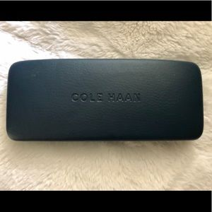 Cole Haan Leather Navy Eye Glasses Case Wallet Bag